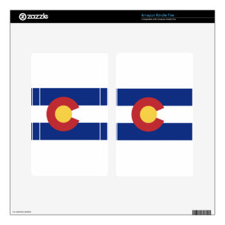 Flag of Colorado Decals For Kindle Fire