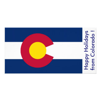 Flag of Colorado, Happy Holidays from U.S.A. Card