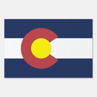 Flag of Colorado Lawn Sign