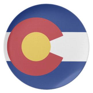 Flag of Colorado Melamine Plate