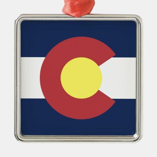 Flag of Colorado Christmas Ornaments