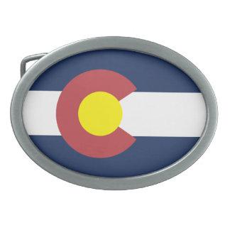 Flag of Colorado Oval Belt Buckle