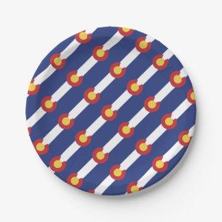 Flag of Colorado Paper Plate