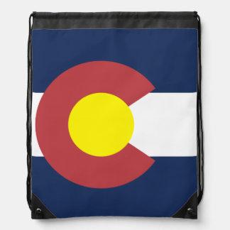 Flag of Colorado Drawstring Backpack