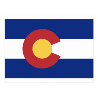 Flag of Colorado Postcard