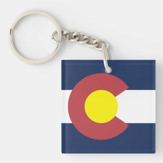 Flag of Colorado Single-Sided Square Acrylic Keychain