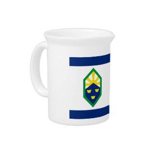 Flag of Colorado Springs Beverage Pitcher