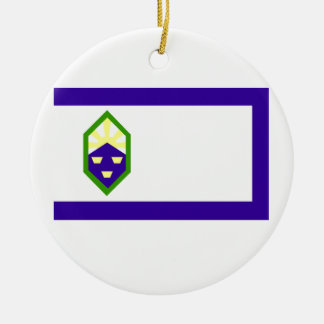 Flag of Colorado Springs Ceramic Ornament