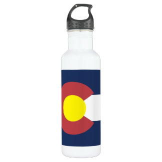 Flag of Colorado Stainless Steel Water Bottle