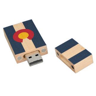 Flag of Colorado Wood USB Flash Drive