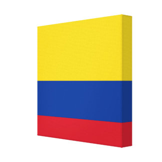 Flag of Columbia, Republic of Colombia Canvas Prints