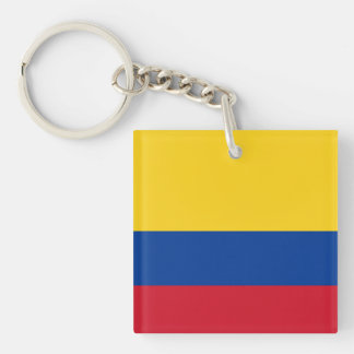 Flag of Columbia, Republic of Colombia Double-Sided Square Acrylic Keychain