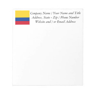 Flag of Columbia, Republic of Colombia Notepad