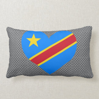 Flag of Congese on metal background Throw Pillow