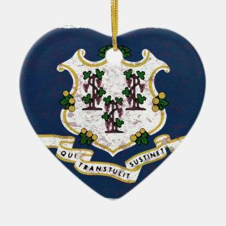Flag of Connecticut Ceramic Ornament