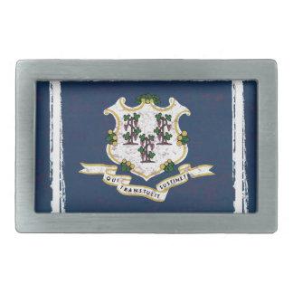 Flag of Connecticut Rectangular Belt Buckle