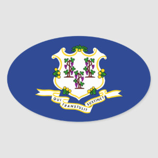 Flag of Connecticut Stickers
