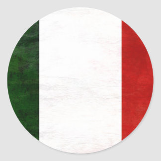 Flag of Consumed Italy Classic Round Sticker