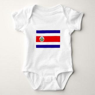 Flag of Costa Rica Baby Bodysuit
