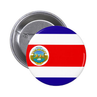 Flag of Costa Rica 2 Inch Round Button