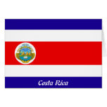 Flag of Costa Rica Card