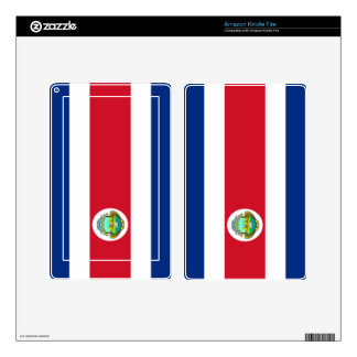 flag of Costa Rica Decal For Kindle Fire