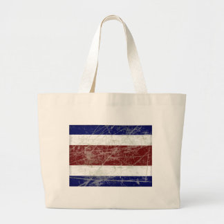 Flag of Costa Rica Large Tote Bag