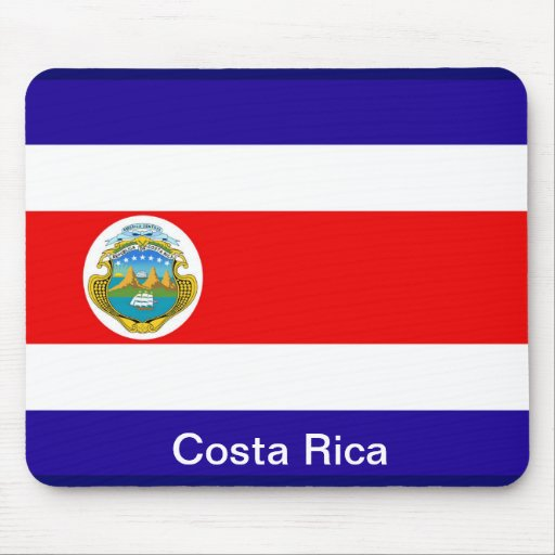 Flag of Costa Rica Mouse Pads