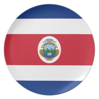 Flag of Costa Rica Dinner Plates