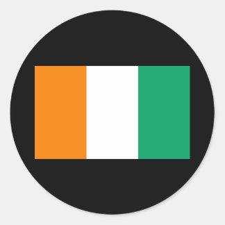 Flag of Cote D&Apos;Ivoire Classic Round Sticker