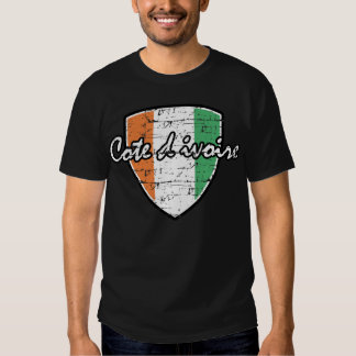 Flag of Cote D Ivoire design T-Shirt