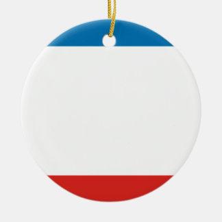 Flag of Crimea Ceramic Ornament