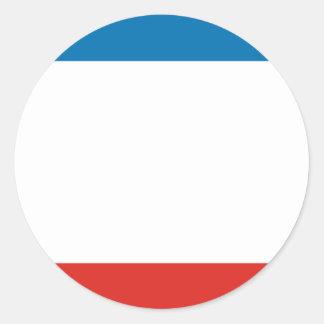 Flag of Crimea Classic Round Sticker