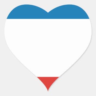 Flag of Crimea Heart Sticker