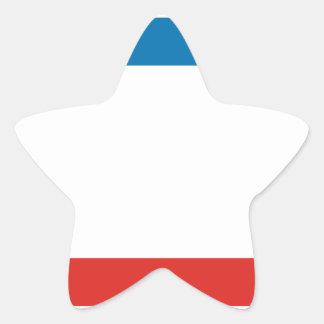 Flag of Crimea Star Sticker