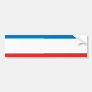 Flag of Crimea Stripe Car Bumper Sticker