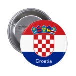 Flag of Croatia 2 Inch Round Button