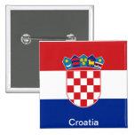 Flag of Croatia 2 Inch Square Button