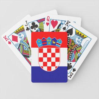 Flag of Croatia Bicycle Poker Cards