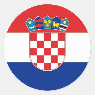 Flag of Croatia Sticker (Circle)