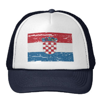 FLAG OF CROATIA TRUCKER HAT