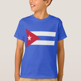 Flag Of Cuba Blue T-Shirt