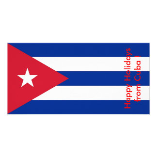 Flag of Cuba Happy Holidays from Cuba Photo Card