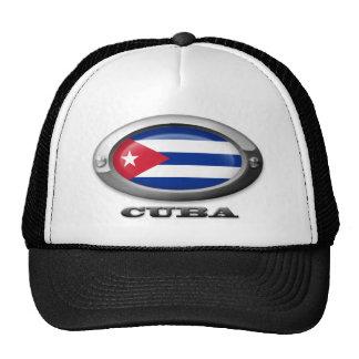 Flag of Cuba in Steel Frame Trucker Hat