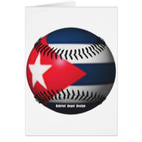 Flag of Cuba on a Baseball