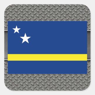 Flag of Curacao Square Sticker