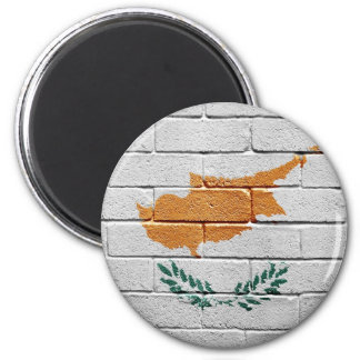 Flag of Cyprus 2 Inch Round Magnet