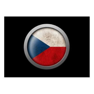 Flag of Czech Republic Disc Business Card Template