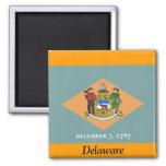 Flag of Delaware Fridge Magnets