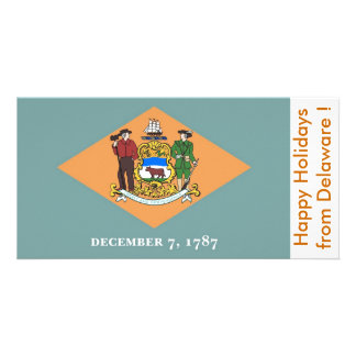 Flag of Delaware, Happy Holidays from U.S.A. Card
